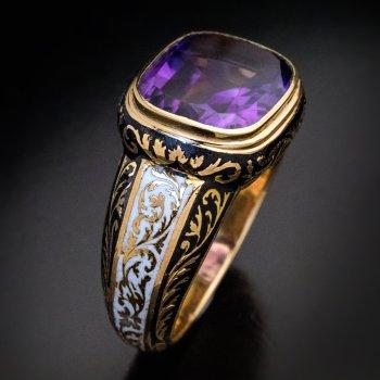 Antique men's ring - Georgian Victorian jewelry