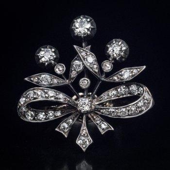 Belle Epoque antique diamond bow ring