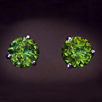 Demantoid stud earrings for sale