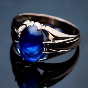 5 ct cabochon sapphire ring