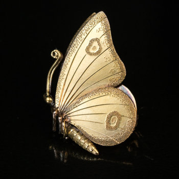 antique Victorian butterfly brooch