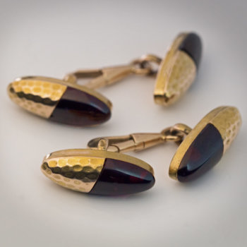 antique garnet and gold cufflinks