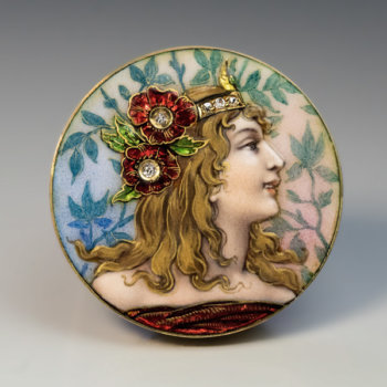 antique Art Nouveau enamel jewelry