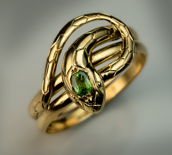 Antique Snake Rings French Gold And Demantoid Ring