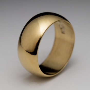 antique high carat gold wide band wedding ring