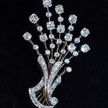 vintage diamond platinum brooch pendant