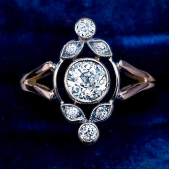 antique edwardian diamond rings