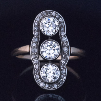 Edwardian antique diamond ring