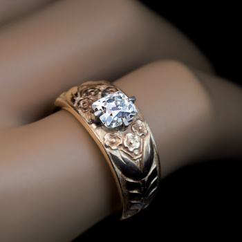 antique diamond ring for man