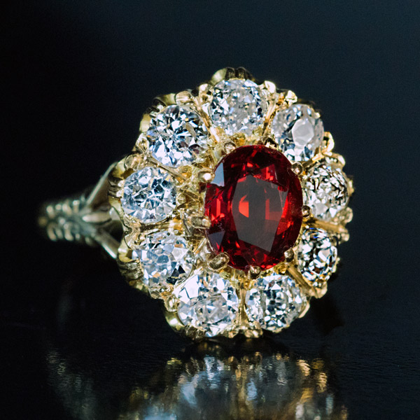 Ruby Diamond Cer Engagement Ring