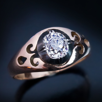 old mine cut 1 carat diamond ring