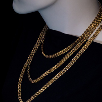 antique gold chain necklace