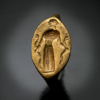 Greek gold finger ring 5th-4th century BC - ancient signet rings