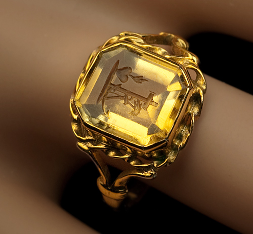 Citrine Intaglio Ring 1820s Georgian Intaglio Rings Antique Jewelry Vintage Rings Faberge Eggs