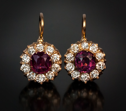 Antique Jewelry Antique Earrings Diamond Amp Spinel