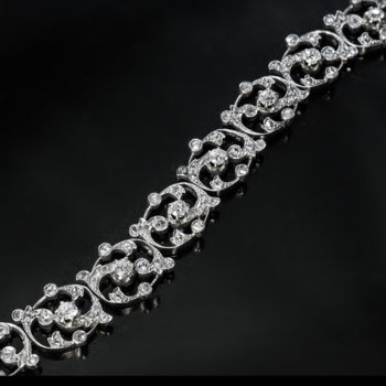 vintage 1920s French openwork diamond bracelet