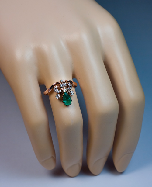 Unusual Engagement Rings Unique Emerald And Diamond Ring