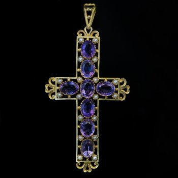 antique amethyst cross