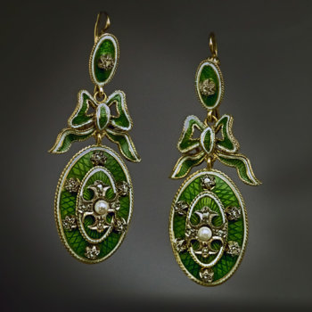 antique enamel jewelry