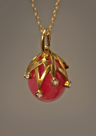 Antique Egg Jewelry Koehli Rhodonite Egg Antique