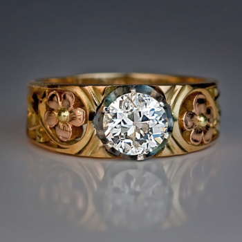 Art Nouveau diamond ring