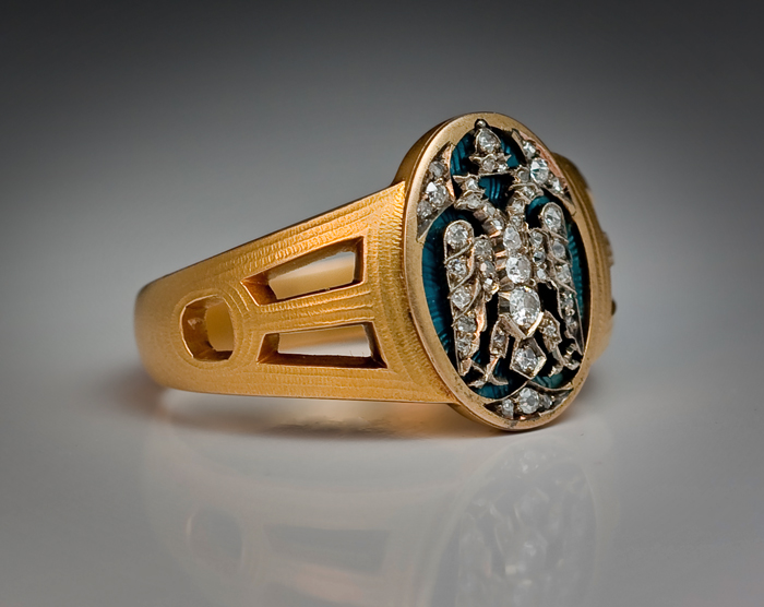 Faberge Russian Imperial Eagle Men S Ring 1915 Antique