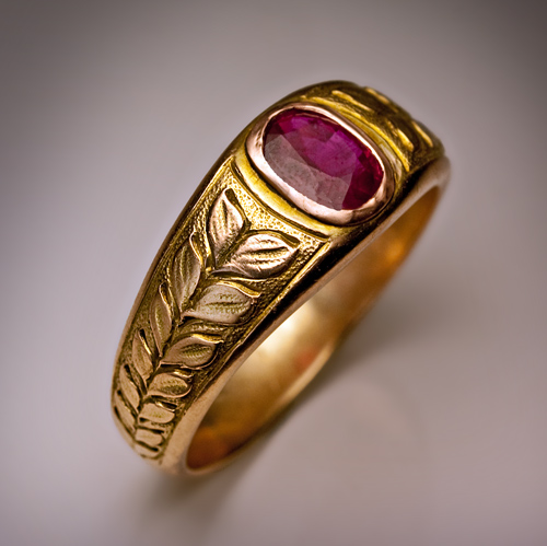 Vintage Ruby Jewelry Men S Ruby And Gold Ring Antique