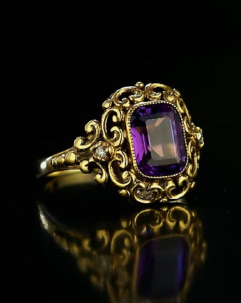 Russian Renaissance Style Gold Ring With A Siberian