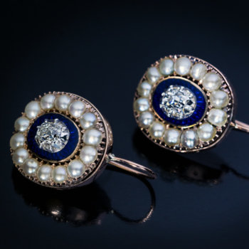 antique Georgian earrings