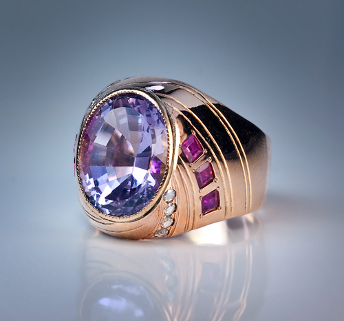 Vintage Amethyst Jewelry Early 1900s Amethyst Ring