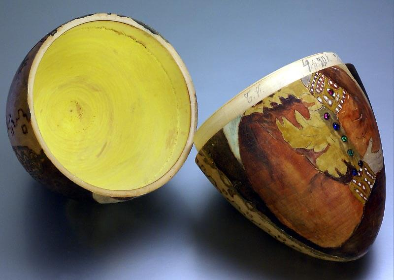 Wooden Easter Egg With A Russian Beauty Period Of