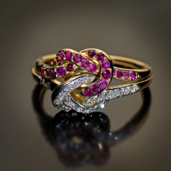 antique Victorian love knot wedding ring