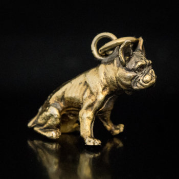 antique boxer dog charm pendant