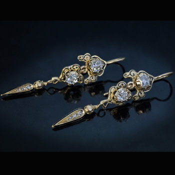 Georgian era antique earrings