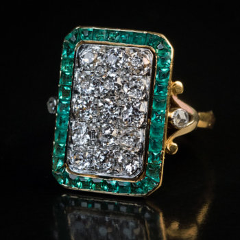 antique French diamond ring